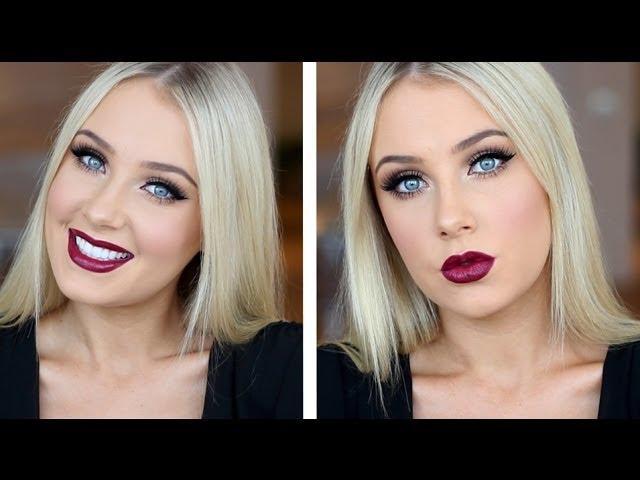 Doll Eyes with Dark Plum Lips Tutorial!