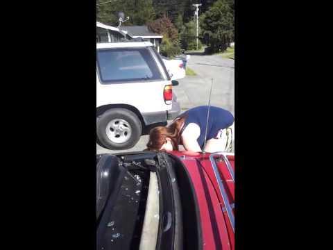 Crazy Ex-Wife Destroys Car With a Hammer