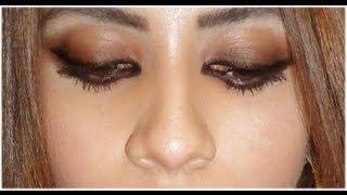 UPON REQUEST: Black To Brown SMOKEY EYE Tutorial (Arabic / Dramatic) - Haifa Wehbe Liner