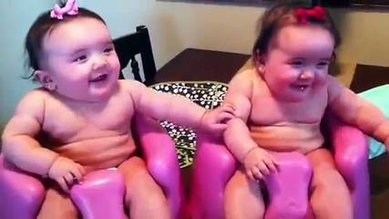 Funny Twin Babies Laughing, Crying, And Then Laughing Again