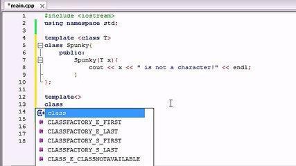 61. C++ Programming Tutorials - Template Specializations