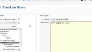 Joomla Tutorial Português Enviar Email Em Massa Joomla! 1.5