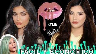 Kylie Jenner Tutorial de Maquillaje Con productos económicos Paso a paso para principiante