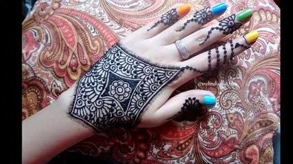 DIY Henna:Best and Beautiful latest modern arabic mehndi design Tutorial for eid and diwali
