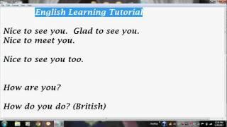 English Language Tutorial Through Bangla / Bengali
