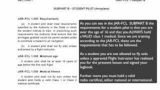 JAR-FCL Student Pilot Requriments