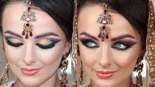 Bollywood Barbie Makeup Tutorial Asian Bridal Makeup Arabic Twist - Real Dramatic