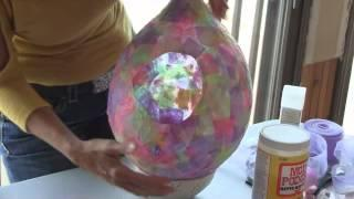 Easter Craft:  Easter Egg Decoupage Basket...Turn A Balloon Into An Easter Basket.