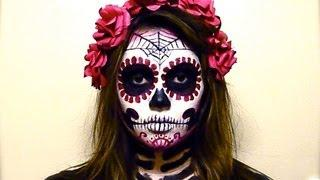 BLOOD RED CATRINA SUGAR SKULL Tutorial