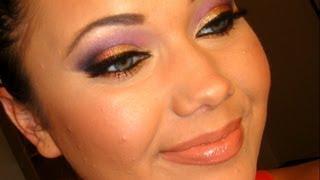 Arabic Inspired Makeup Tutorial (Gold Pink&Purple Smokey Eye)