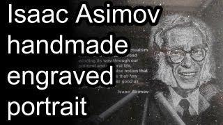 Isaac Asimov - Timelapse Of Engraving Portrait