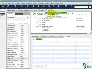 QuickBooks Pro 2014 Tutorial: Working With Vendors - Part 2