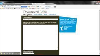 Video Vodič Za Crossword Labs
