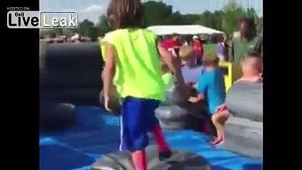 Funny video- Kid Fails At Obstacle Course