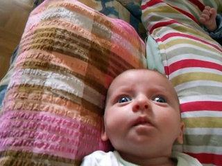Funny baby girl faces