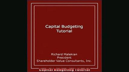 EBOOK ONLINE  Capital Budgeting Tutorial  DOWNLOAD ONLINE