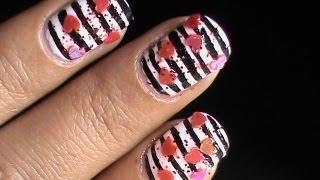 Valentines Day Nails Art Designs - Cute Heart Nail Polish Easy Tutorial Long/Short Nails 2013