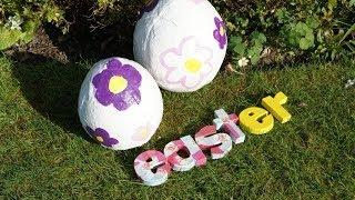 Easter Egg Decorations  - How To Make Giant Easter Eggs
