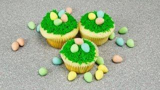 Easter Cupcakes - Easter Egg Nest How-to By Cookies Cupcakes And Cardio