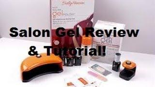 Sally Hansen Salon Gel Polish Kit Review&Full Tutorial!