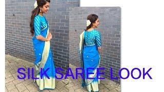 SILK SAREE LOOK | Tutorial | Tamil hair and make up artist