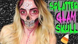 Splatter Glam Skull Transformation Tutorial!!