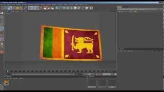 Cinema 4d Flag Flag Waving Tutorial Sinhalen