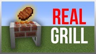 Minecraft 1.11: Redstone Tutorial - Working Grill!