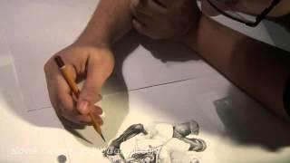 Votrelec Na Dovolenke [Alien On Vacation - Time-lapse Drawing]