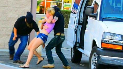 Kidnapping Girl with Van Prank
