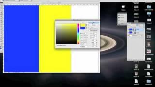 Romanian Flag Drawn In 21 Seconds Flat Using Photoshop CS4