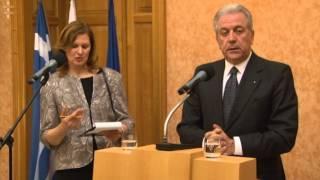 Tlačová Konferencia M. Lajčáka S Gréckym Partnerom - Otázky Novinárov