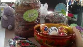 Happy Easter - Russian Easter Decoration - Easter Eggs, Easter Bread