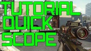 Tutorial Quick Scope Black Ops 2 - Dicas BO2 - Português-BR