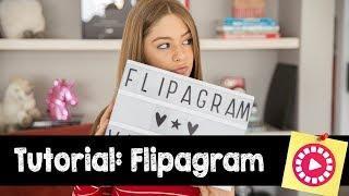Tutorial Flipagram: Como fazer vídeos || Valentina Schulz
