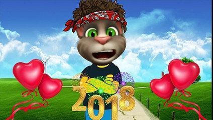 Happy New Year 2018 New Shayari Tom Hindi Talking Tom Funny Video