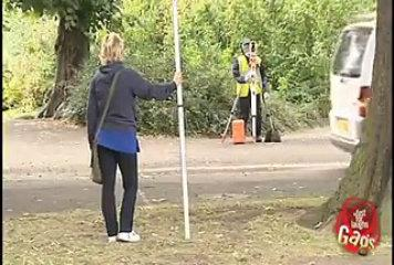 Girl Dummy Surveyor Gag Funny Video