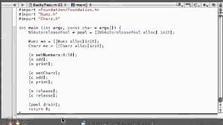Objective C Programming Tutorial   40   Running A Polymorphic Program