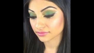 GREEN ARABIC MAKE UP TUTORIAL / Dramatic Eye Liner / MAQUILLAGE LIBANAIS VERT PAS À PAS