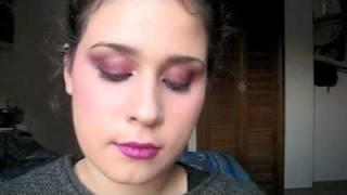 .Tutorial: Quick Bright Pink Look Using MUFE HD Blush (Italian).