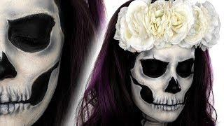 Skull Face Paint Tutorial | Halloween Makeup Tutorial | Snazaroo | Shonagh Scott | Sponsored