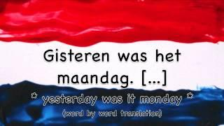 The Days Of The Week In Dutch / Learn Dutch Online / De Dagen Van De Week / Nederlands Leren Online