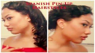 Spanish Pin Up Girl *Hair* Tutorial (PART 2)
