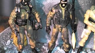 GI JOE CUSTOM  SERBIAN COMMANDOS ACTION FIGURES