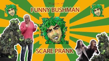 Brand New Bushman Scare Prank in San Francisco! Best Funny Prank ever!