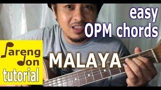 Malaya guitar tutorial - Camp Sawi OST - Moira Dela Torre - Easy Chords OPM Song