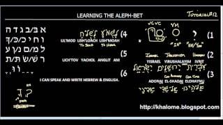 Tutorial 12 - Learning The Hebrew Alef-Bet