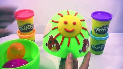 Play Doh Surprise Eggs Peppa Pig español Cars toys Funny video for kids