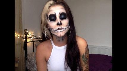 Halloween Skull Makeup Tutorial // Jamie Genevieve