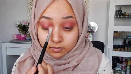 EID SERIES - Dramatic Eid Makeup Look - Sultry Pink Glitter Tutorial